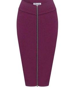 Dresses & Skirts - Exposed front long zip mindi pencil skirt
